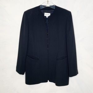 Emanuel Ungaro Black Long Length Black Blazer